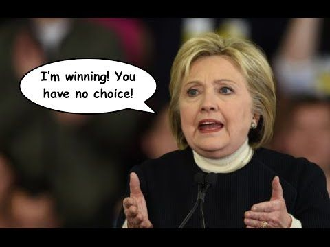 """Hillary Clinton's AWFUL Pitch to Bernie Sanders' Supporters: """"I'm Winning""""  [She sure is, surprise, surprise, #ElectionFraud, 1%ers and oligarchs, rejoice.  #WeThePeople aren't buying your crap!]  She's not giving way to the progressive platform, she sounds just like Trump!  DINO=GOP  There's no contest, kabuki theater is all..."""