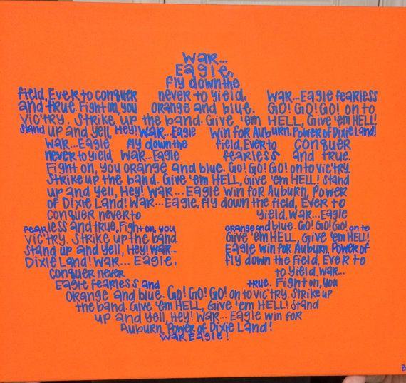 Auburn Fight Song Canvas by B2RStudio on Etsy