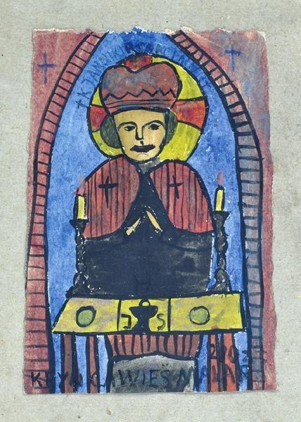 Krynicki Nikifor (Poland, 1895 - 1968) «Saint»