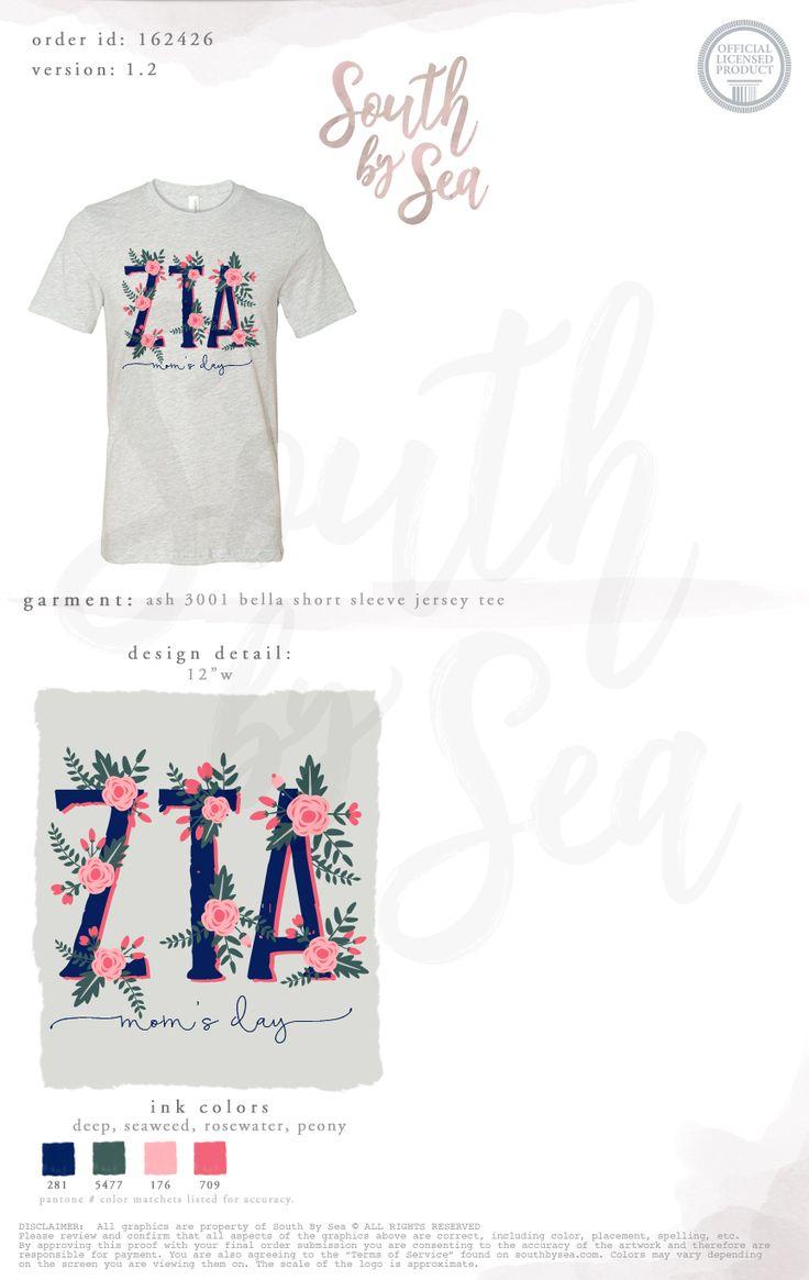 South by Sea | Greek Tee Shirts | Greek Tank Tops | Custom Apparel Design | Custom Greek Apparel | Sorority Tee Shirts | Sorority Tanks | Sorority Shirt Designs | Sorority Shirts | TShirts | Sorority T-Shirts | Classic | Custom Greek TShirts | Greek Life | Sorority Clothes | Sorority T-Shirt Ideas | Custom Designs | Custom | Custom Greek | Sorority | Custom Printed T-Shirts | Recruitment | ZTA | Floral | Letters | Mom's Day