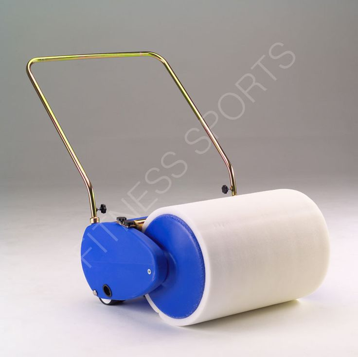 The dry roller cricket pitch water collector drum. Features an absorbent 750mm wide foam roller, mounted on a light polypropylene wheeled chassis. Designed for removing standing water on any ground surface such as tarmac or cement, and also lawns and cricket wickets. When pushed, the absorbent roller picks up standing water and as it passes under a rigid metal bar it is squeezed out into a 65-litre holding tank, and empitied by the tank side drain plug stopper.