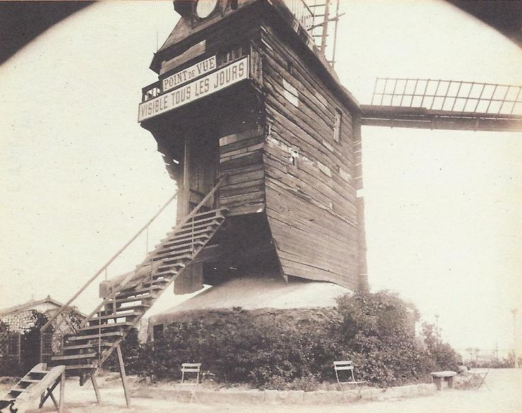 Eugène Atget- Le moulin de la Galette, Montmartre, 1889