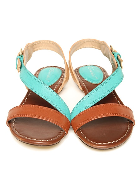 color block sandals: Sandals Awesome, Earth Sandals, Buckled Color, Colors, Leather Sandals, Awesome Pin, Brown Colorblock, Colorblock Sandals