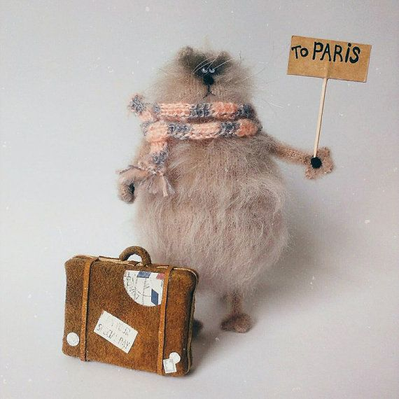 Cat in search og adventures от WhatMyToy на Etsy