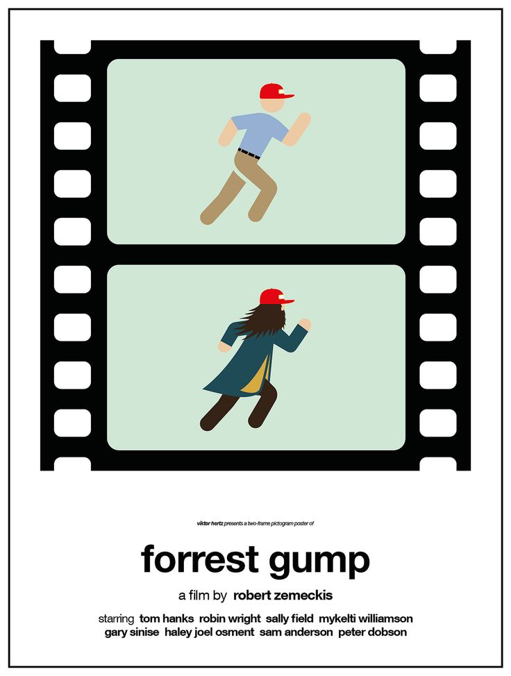 https://flic.kr/p/rdNkii | Forrest Gump | Part of the project 'Two-frame pictogram movie posters', now live on Kickstarter:  www.kickstarter.com/projects/viktorhertz/two-frame-pictog...