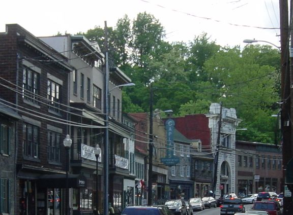 Ellicott City Historic District in Howard County, Maryland.