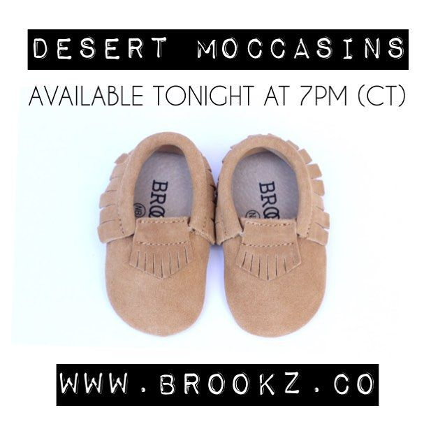 So excited for today's release! I just love our suede desert moccasins!! You'll be able to find these on ✖️www.brookz.co✖️ at 7pm tonight and you'll have 30 minutes to get your littles a pair at 10% off!⏰ Happy shopping mamas