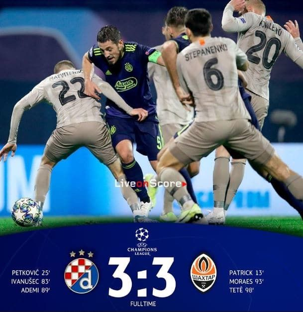 D Zagreb 3 3 Shakhtar Donetsk Full Highlight Video Uefa Champions League Allsportsnews Football Highlight Uefa Champions League Champions League League