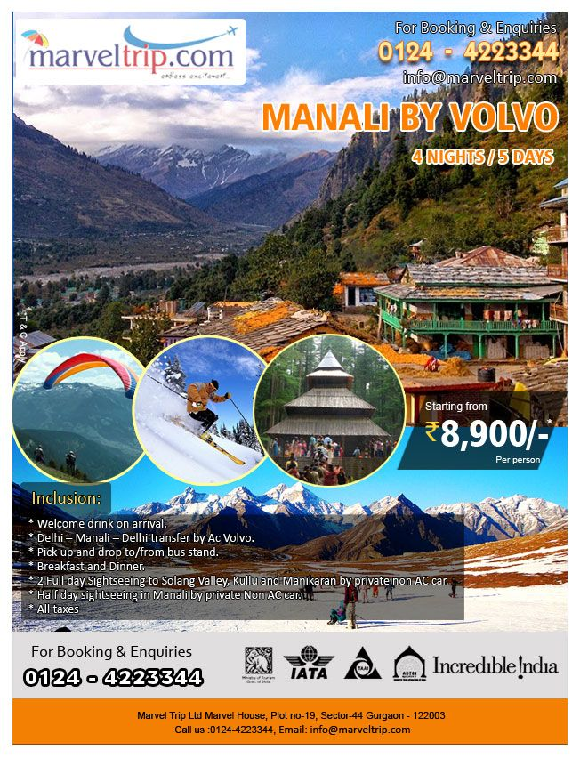 Manli By Volvo INR 8900/ ( Price Per Person basis ) http