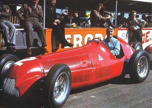 Nino Farina, Alfa Romeo 158 - Grand Prix de Grande Bretagne -...