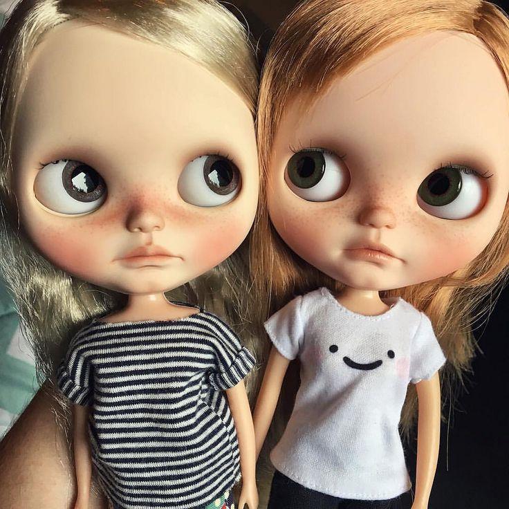 My Tati68 girls...Rowan & Nestor. #blythe #blythedoll #blythephoto #blythecustom #customblythe #instablythe #blythestagram #instadoll #doll #dollphotography #tati68 #tati68custom #rblblythe #licca #uniquedoll #bigeyeddoll