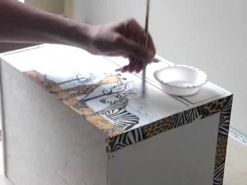 Decoupage | Decoupage tutorial with Paper Napkins - Part 2