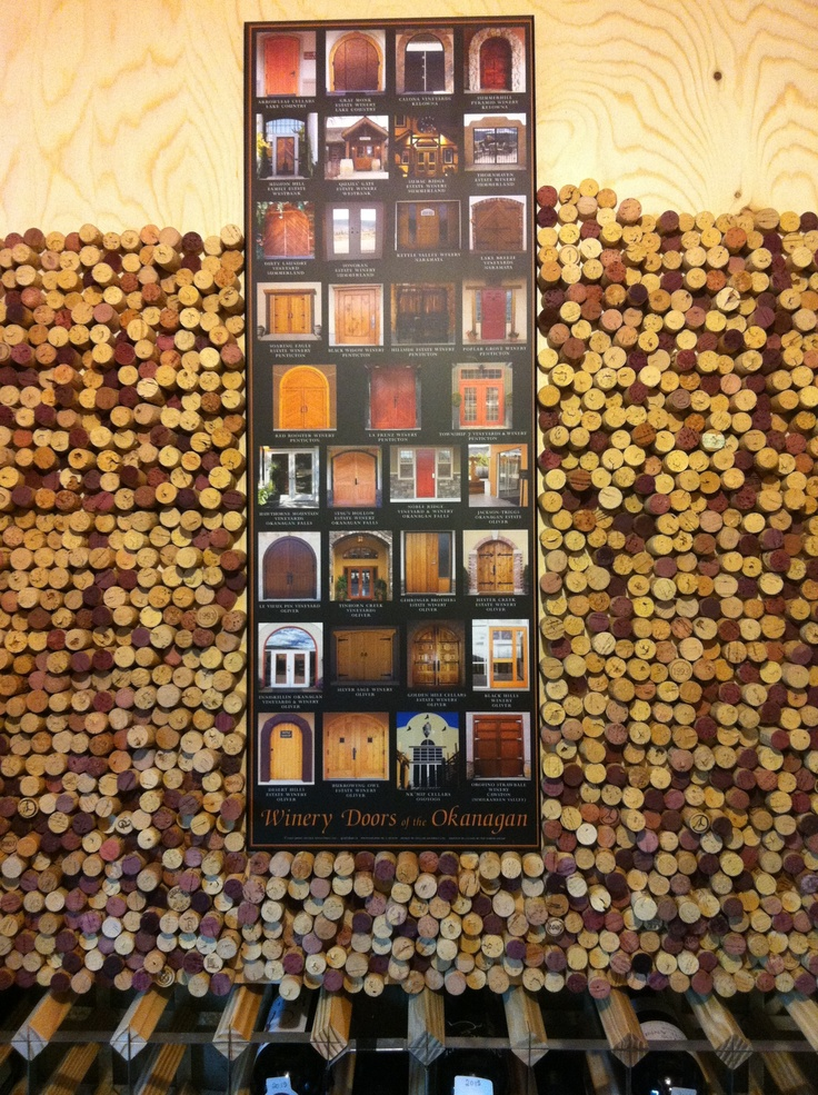 Wine cellar cork wall