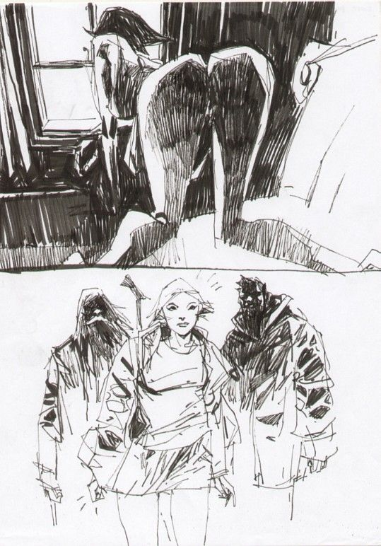 Ashley Wood Lore Page Comic Art