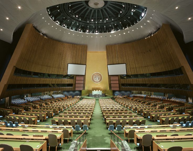 United Nations General Assembly, New York. Photographed in 2003 by Todd Eberle