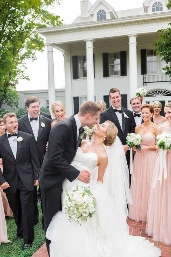 Cheap Chic Blush And Black Wedding Color Theme Ideas Groomsmen In With What Colors Go Dress