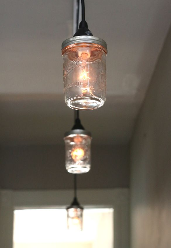 DIY mason jar pendant lights compatible with a track light system  Over on  eHow 60 best lighting images on Pinterest   Lighting ideas  Projects  . Diy Kitchen Track Lighting. Home Design Ideas