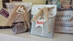 Nella valigia della Buru: Sacchetti in carta di giornale per le vostre creazioni Handmade - TUTORIAL