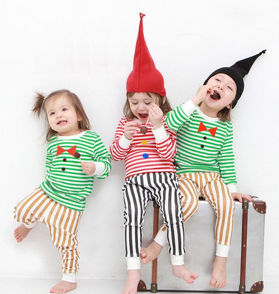 kids Christmas pajamas-Striped / Christmas PJs / by hellodearkids: