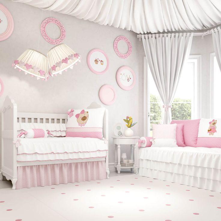 Sua bebê mal chegou e já é uma pequena diva? O Quarto de Bebê Nina Luxuosa foi feito para ela! Realize o sonho de um quarto de menina digno de uma princesa, com muito conforto e sofisticação!