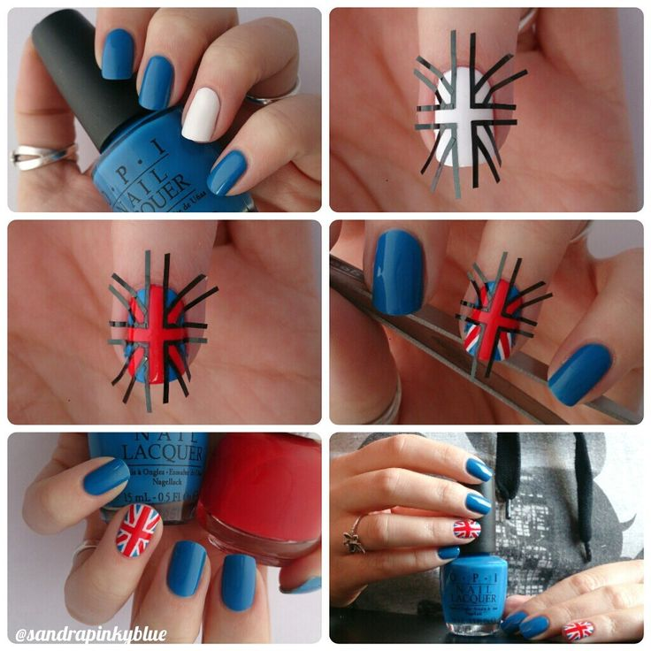 Tuto nail art drapeau anglais
