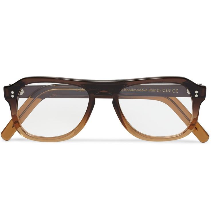 Cutler & Grosssquare-frame ombre acetate optical frames