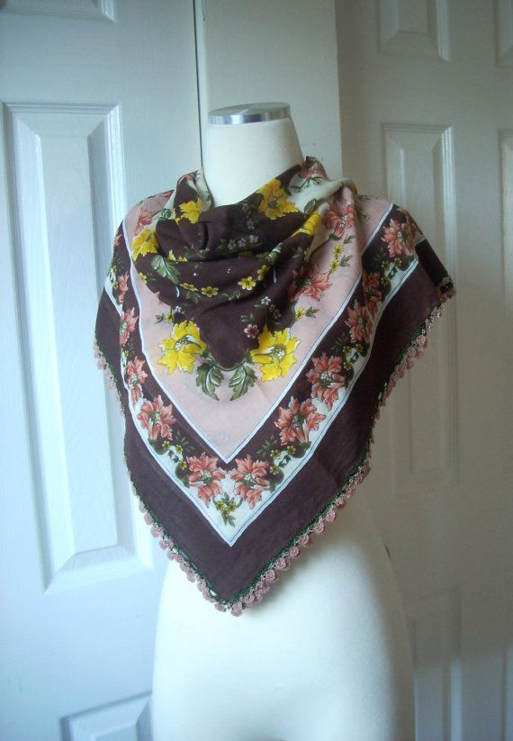 Free shipping cotton crochet scarf wrap gift by TheAnatolianstyle