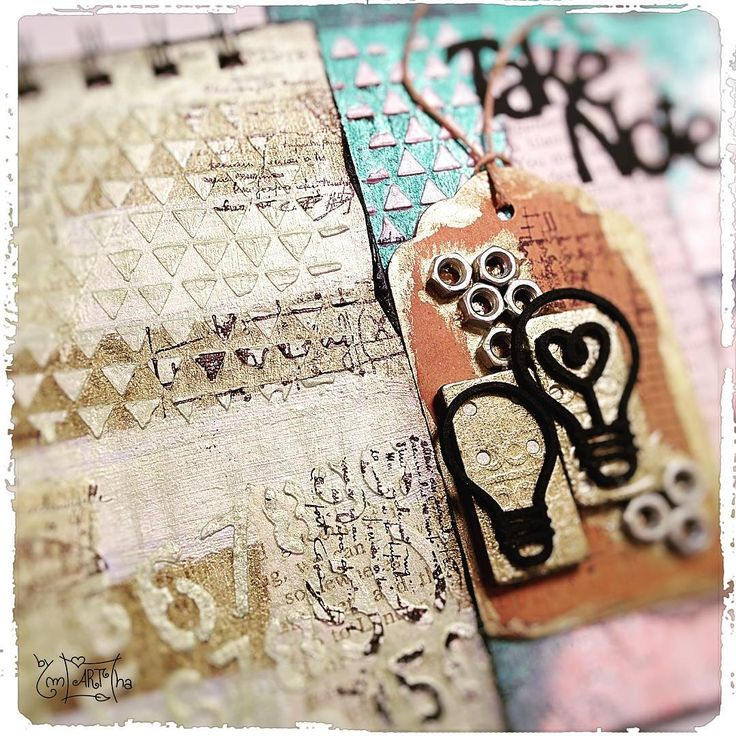 WIP with modeling paste, stencils and stamps #carabellestudio #finnabairproducts #opalmagicpaints #yupplacraft