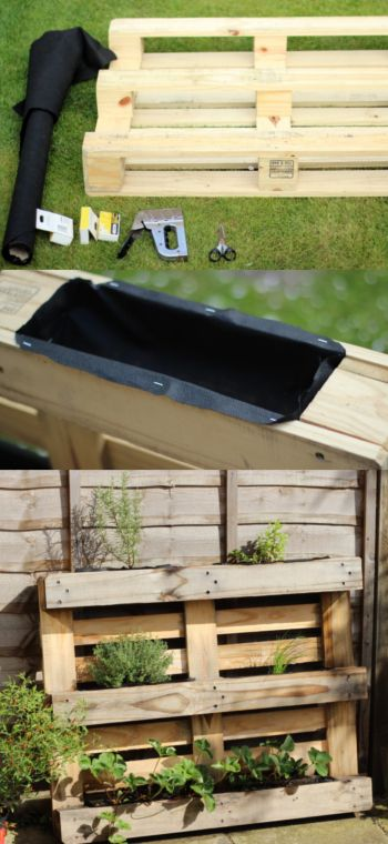 How to make a pallet planter in an afternoon! Perfect DIY for a small garden or balcony | from floral and feather