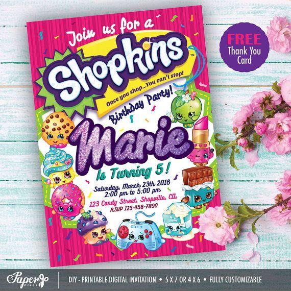 Imprimibles Shopkins partido Shopkins cumpleaños por PaperPlaceRD