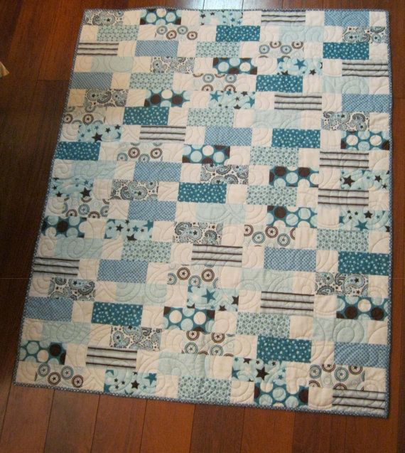 Love this quick quilt... Easy piecing.