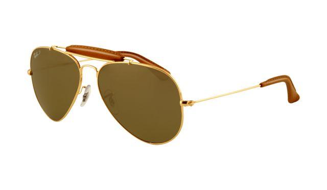 Ray Ban RB3422Q Sunglasses Gold Frame Green Polarized Lens