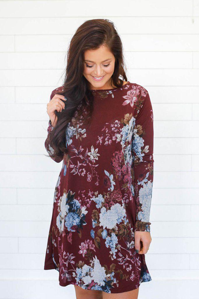 Floral Print Shift Dress - UOIOnline.com