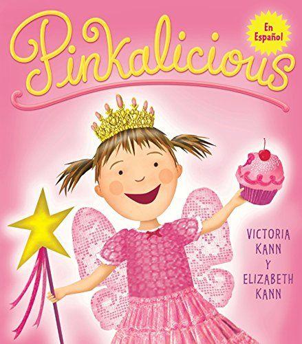 Pinkalicious (Spanish Edition):   Rosado, rosado, rosado. A Pinkalicious le encanta todo lo que es color rosado, sobre todo los pastelitos. Sus padres le advierten que no debe comer demasiados, pero ella no les obedece y ¡amanece completamente rosada! Ahora, ¿qué hará? Este libro colorido, lleno de los objetos rosados más preciados de las niñas, como el chicle, las peonías, el algodón de azúcar y los vestidos de princesas de hadas, celebra todo lo que es color rosado, a medida que demu...