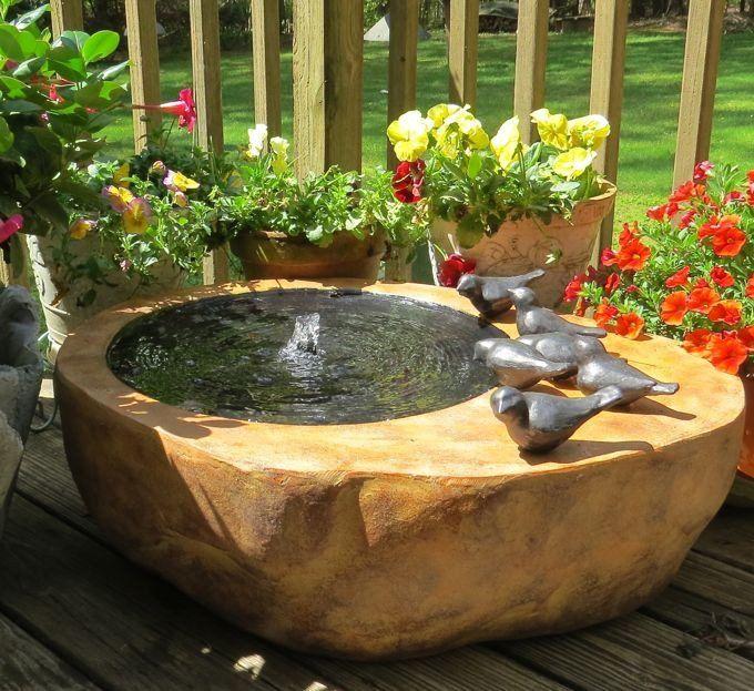 80 Best Images About Splish Splash Bird Baths On Pinterest