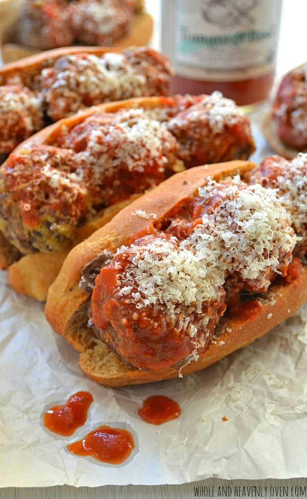 Dinner's ready in only 30 with these Italian-style meatball sub sandwiches! @WholeHeavenly
