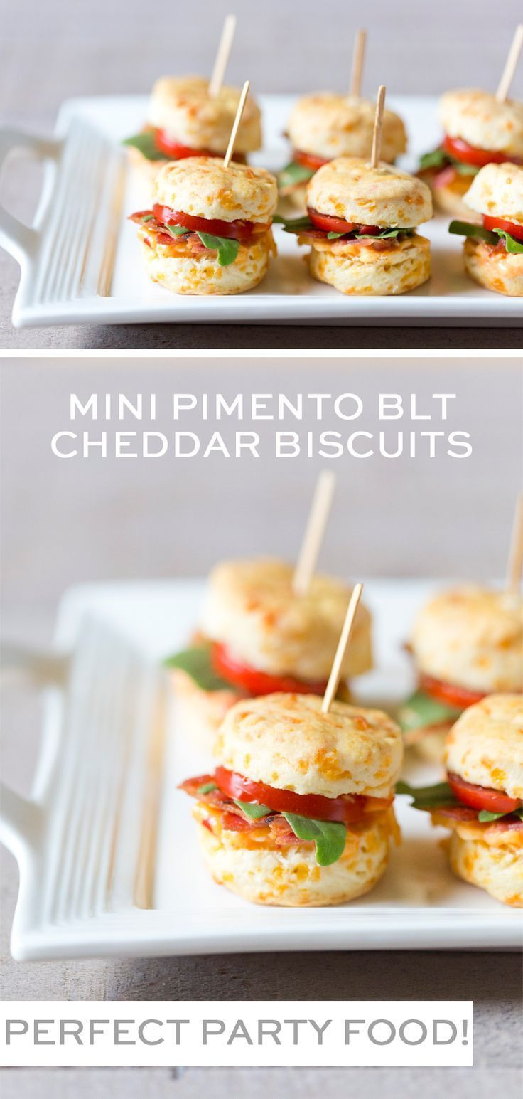 Mini Pimento BLT Cheddar Biscuits
