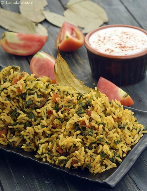 Tomato Methi Rice ( Iron Rich Recipe )