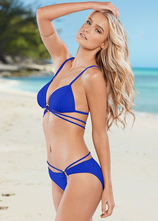 ff078dc015 Venus Women s Vixen Low Rise Moderate Bikini Swimsuit Bottoms - Blue