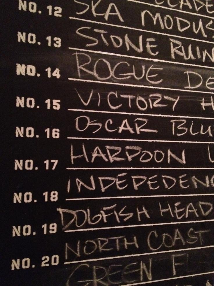 List of beers at the #CCBeerGarden - cheers!