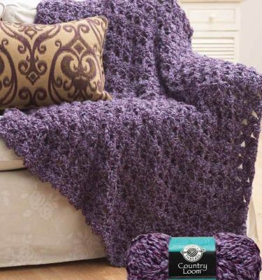 Crochet Cluster Afghan @ॐ Sondra Etter ॐ Swift. (Make this fancy blanket! Favorite color! :) Stay warm and cozy with this luxurious blanket crocheted with Loops & Threads™ Country Loom™. It's the perfect addition to any space in your home..