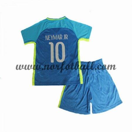 Brasil 2016 Fotballdrakter Barn Neymar JR 10 Kortermet Borte Draktsett Fotball