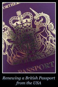 Renewing a British Passport from the USA