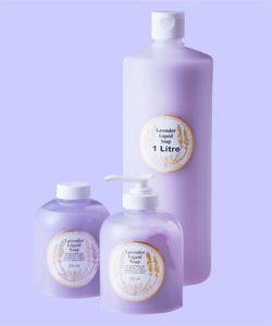 Lavender Liquid Soap - Mauve By Warratina Lavender Farm. Creamy, fragrant & moisterising. Available in 250ml pump & refill bottle & 1 Litre.