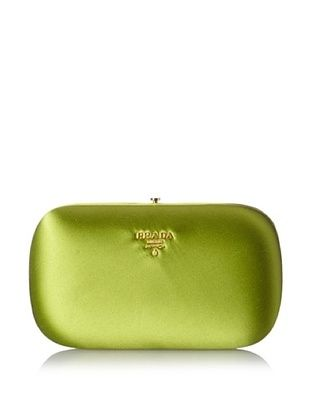 20% OFF Prada Women's Satin Clutch, Green