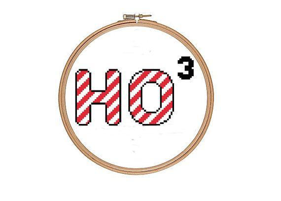 Ho Ho Ho Funny Geek Cross Stitch Pattern PDF Instant Download on Etsy, $3.90 AUD