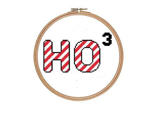Ho Ho Ho Funny Geek Cross Stitch Pattern PDF by RatherUnseamly, £2.00