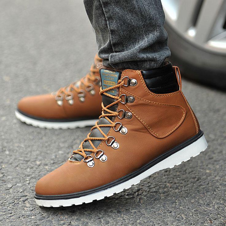 Mens Winter Boots For Men Fashion Martin Male