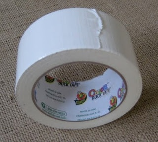 White duct tape to hide electrical cords