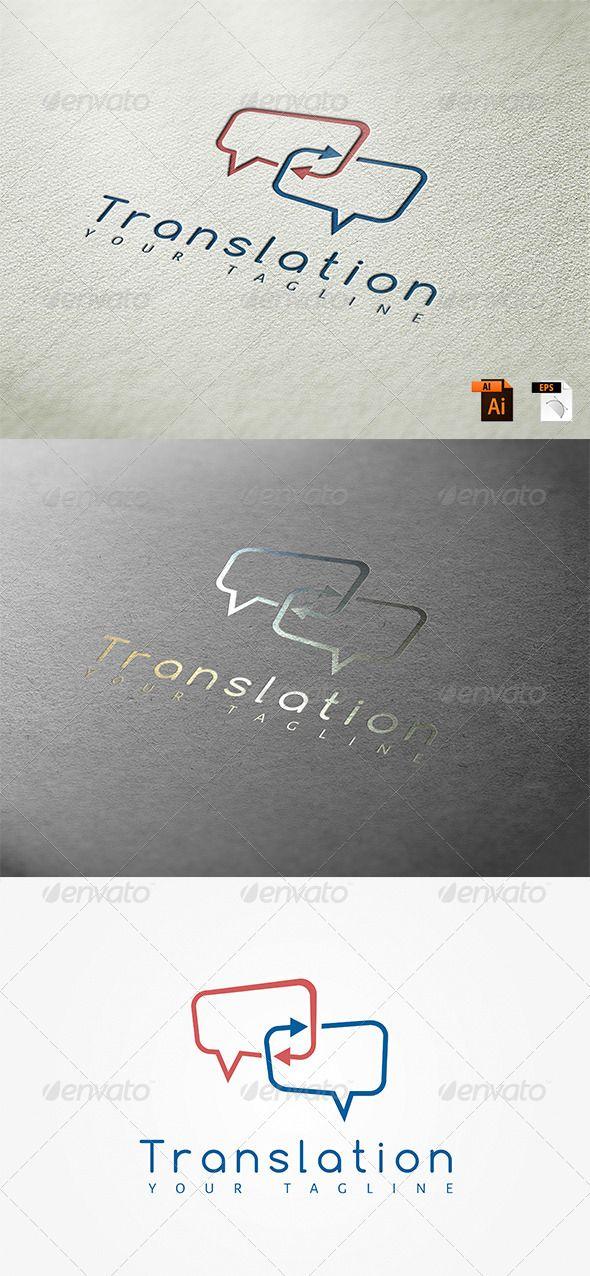 Translation Logo Template  #graphicriver                                                                                                                                                                                 More